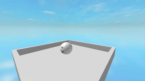 push the ball out of the box - игра ROBLOX