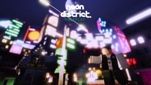 Neon District (Character Codes!) - игра ROBLOX