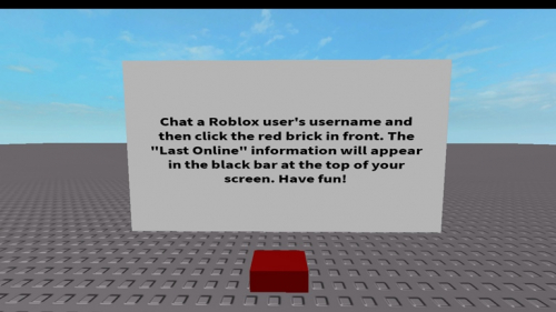 Check a User's Last Online Info [+ Multiplayer!] - игра ROBLOX
